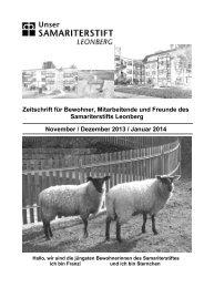 Zeitschrift für Bewohner, Mitarbeitende und ... - Samariterstiftung