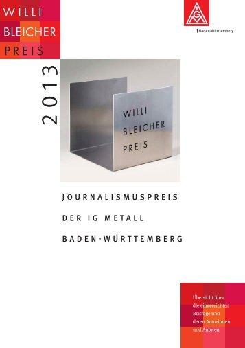 Willi-Bleicher-Preis 2013