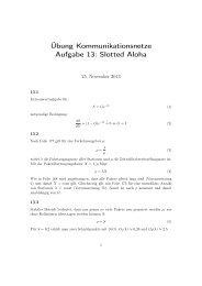 Übung Kommunikationsnetze Aufgabe 13: Slotted Aloha