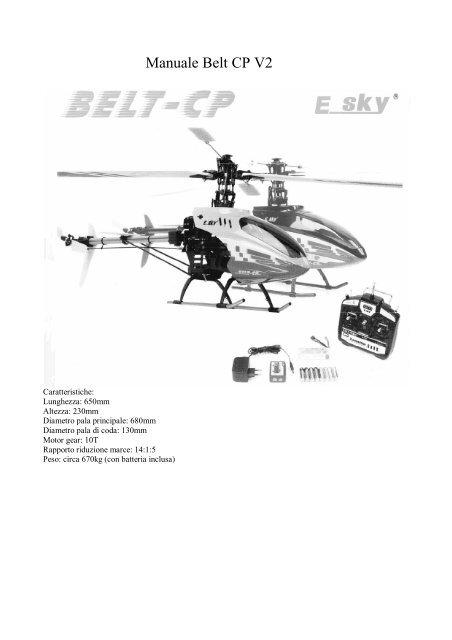 Manuale Belt CP V2 - Modelli shop