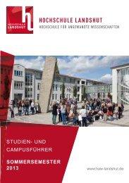 Landshut SS2013 Internet.indd - Hochschule Landshut