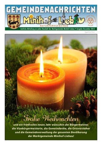 Gemeindenachrichten Weihnachten 2012 - Minihof-Liebau