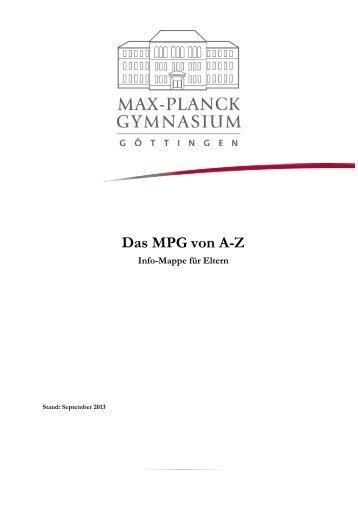 Das MPG von A bis Z - Max-Planck-Gymnasium Göttingen