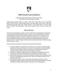 AAEP Parasite Control Guidelines