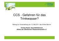 CCS - Gefahren für das Trinkwasser? - Amt Barnim - Oderbruch