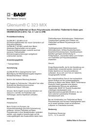 Glenium® C 323 MIX - BASF Performance Products GmbH