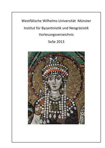 """""""Byzantinistik und Christliche Archäologie"""". - Westfälische Wilhelms ..."""