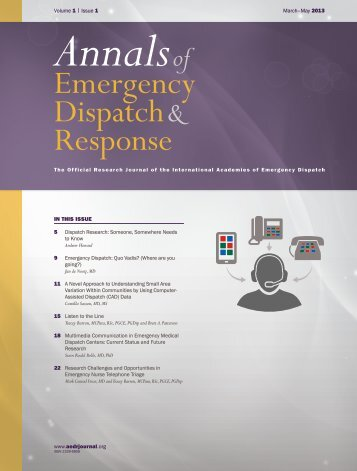 Multimedia Communication in Emergency Medical Dispatch Centers