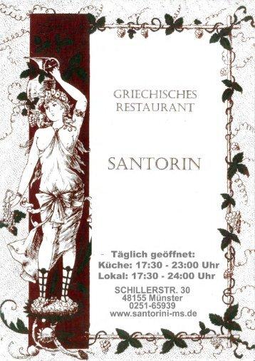 Saucen - Restaurant Santorini