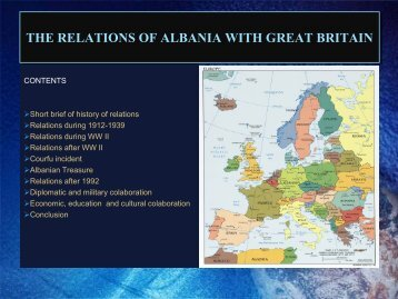 THE RELATIONS OF ALBANIA WITH GREAT BRITAIN
