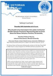 Selwyn Lecture - Geological Society of Australia