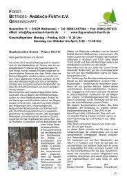 Rundschreiben Herbst-Winter 2013-2014