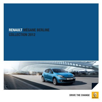 RENAULT MÉGANE BERLINE COLLECTION 2012