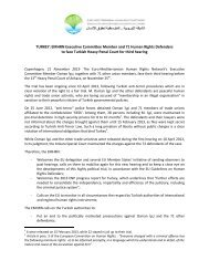 TURKEY: EMHRN Executive Committee Member ... - Euromedrights