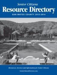 San Mateo Senior Citizens Resources Directory 2013 2014
