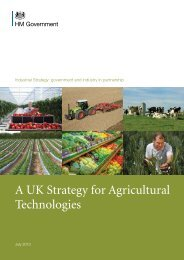 A UK Strategy for Agricultural Technologies - Gov.uk