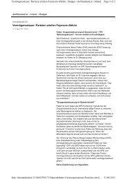 Parteien erteilen Faymann Abfuhr - RfW Ring Freiheitlicher ...