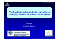 Changing demand for animal protein in Asia