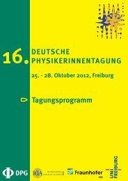Link zum Programmheft - Deutsche Physikerinnentagung