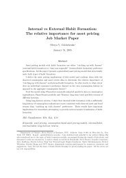 Internal vs External Habit Formation: The relative importance for ...