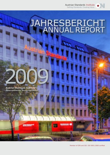Jahresbericht Annual Report 2009 Austrian Standards ... - baunorm.at