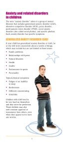 Anxiety Disorders in Children - Anxiety Disorders Association of ... - Page 5