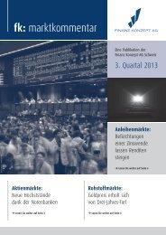 Marktkommentar 3. Quartal 2013 - Finanz Konzept AG