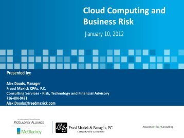 Cloud Computing And Business Risk