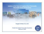 Update on the Town of Longboat Key's Permeable ... - fsbpa