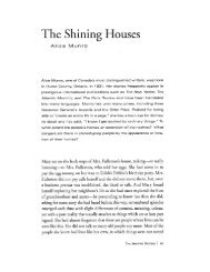 The Shining Houses - Alice Munro