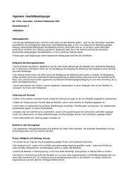 Allgemeine Geschäftsbedingungen - vierer-kette