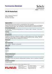 Produktinformation - Schulz GmbH Farben- und Lackfabrik