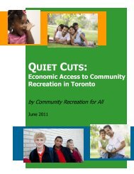 Quiet Cuts: Economic Access to Community Recreation in ... - TWCA