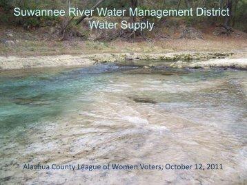 SRWMD Conservation Initiatives - Alachua County Florida