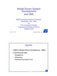 Model Driven System Development and UML