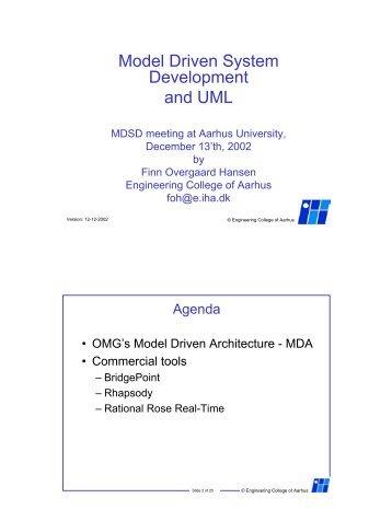 Model Driven System Development and UML