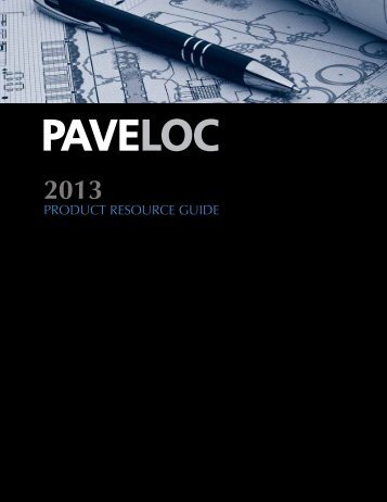 Paveloc 2013 Product Data - Ground Effects