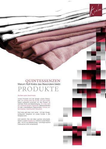 Produktdarstellung 2010 - Rolf Krebs GmbH