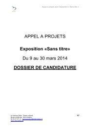 Appel à projets pour l'exposition Sans titre 2014 - Centre national ...