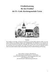 Friedhofssatzung für den Friedhof der Ev.-Luth. Kirchengemeinde ...