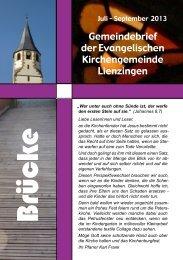 Brücke Juli - September 2013 - Evangelische Kirchengemeinde ...