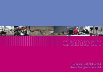 Jahresbericht 2003/04 - Seeland Gymnasium Biel