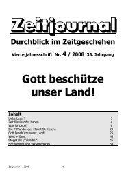 Gott beschütze unser Land! - Dr. Lothar Gassmann