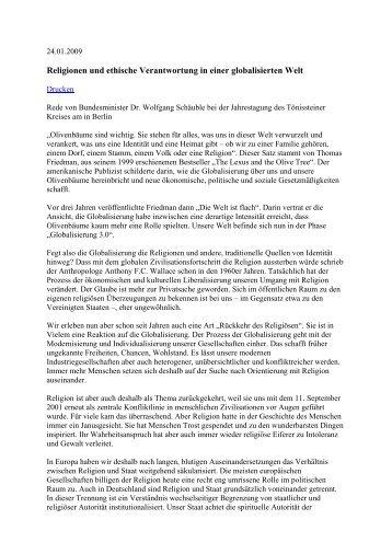 Rede von Bundesinnenminister Dr. Wolfgang Schäuble
