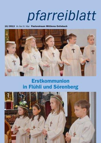 Pfarreiblatt 10/2013 - Pastoralraum Mittleres Entlebuch >Willkommen