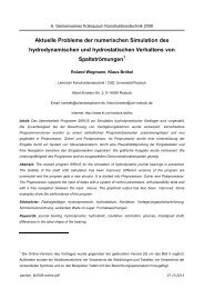 Aktuelle Probleme der numerischen Simulation ... - Roland Wegmann