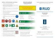 Orientierungsplan der RUD Friedensinsel
