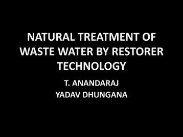 natural treatment of waste water by restorer technology