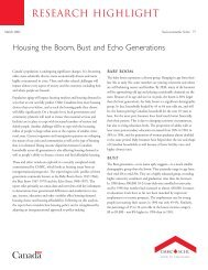 CMHC Research Highlights - Canadian Home Builders' Association