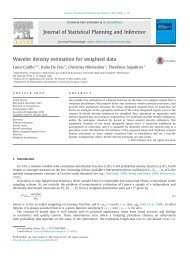 Wavelet density estimation for weighted data - University of Cyprus